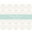 Lace crochet card background vector image