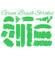 different design of brush strokes in green vector image