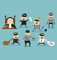 thief robber and judge crime or punishment vector image vector image
