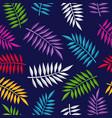 tropical summer jungle plant color background art vector image