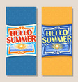 Banners for summer season vector image