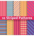 Different striped seamless patterns tiling vector image vector image