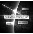 BUSINESS CONSULTING vector image
