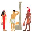 Ancient Egyptian-Greek market negotiations vector image vector image