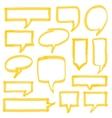 Highlighter Speech Bubbles Design Elements vector image