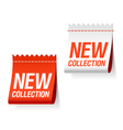 new collection labels vector image vector image