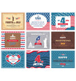 american national holiday 4th of july greetings vector image