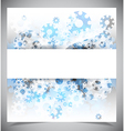 Blue and white modern abstract background vector image