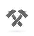 crossed hamers icon vector image