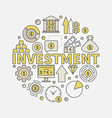 financial investments round vector image