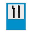 knife and fork icon flat style vector image