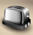 Metallic toaster vector image
