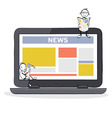 Online Media and News vector image
