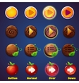 Set of buttons with views press vector image