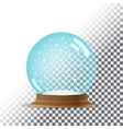 Snow globe Transparent background vector image