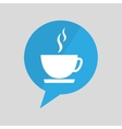symbol cup coffee hot design vector image