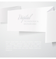 White folded paper vector image