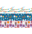 Christmas banner set with patterns vector image