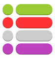 Flat blank icon empty internet color button vector image