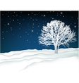 Winter lonely tree vector image vector image