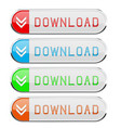 download colored buttons set vector image