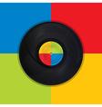 Vintage record Pop Art vector image