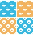 Hot soup pattern set colored vector image