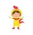 Child Wearing Costume of Chicken vector image