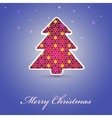 Christmas cards with festive tree vector image