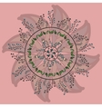 Circle lace organic ornament vector image