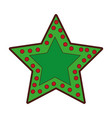crhistmas star light icon vector image