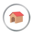 Doghouse icon in cartoon style for web vector image