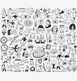 fairy tale doodles vector image