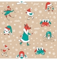Funny animals in winter vector image