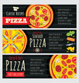 italian pizza and pizzeria restaurant vector image