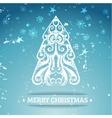 Ornamental stylized christmas background vector image