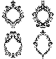 Ornate baroque frames set vector image