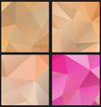 Polygon color set vector image