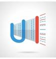 Promotion button Megaphone flat color icon vector image