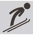 ski jumping icon vector image