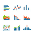 Different graphic business ratings and charts vector image