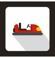 Toy car in the playground icon flat style vector image