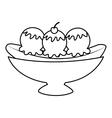 delicious banana split icon vector image