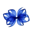 Blue Transparent Bow Isolated on White Background vector image
