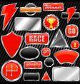 chrome graphic elements vector image