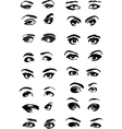 Eye Woman Set vector image vector image