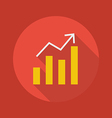 Business Flat Icon Chart vector image