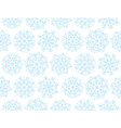 Christmas snowflakes background Xmas seamless with vector image