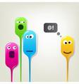 Color bubble heads vector image