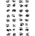 Eye Woman Set vector image